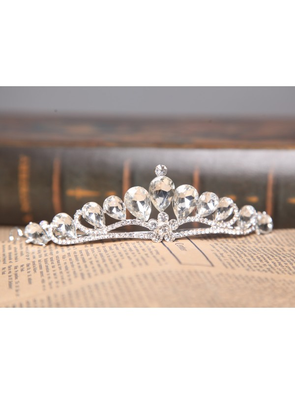 Graceful Alloy Clear Crystals Wedding Headpieces