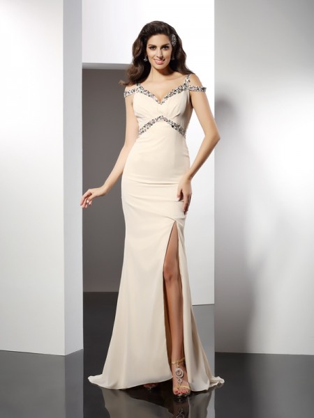 Trumpet/Mermaid Sweetheart Dress with Long Chiffon